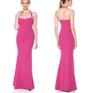 LIKELY serrino halter evening gown pink NWT